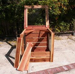 "1-Bin Redwood Compost Bin - front • <a style=""font-size:0.8em;"" href=""https://www.flickr.com/photos/87478652@N08/8049160627/"" target=""_blank"">View on Flickr</a>"