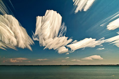 Sky Sculptures (Matt Molloy) Tags: blue sky motion nature water lines clouds photography timelapse neat streaks sculptures twisting lovelife photostack mattmolloy timestack