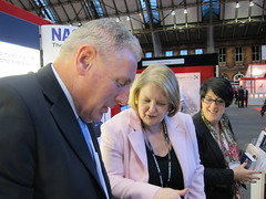 Vernon Coaker on NASUWT stand at Labour Party Conference (nasuwt_union) Tags: nasuwt education conference woman man black white speaking stand hall meal drinks happy members workshop pesident birmingham banner meeting stage positive portrait guidance crowd teachers leaders lectures students awards executive staff show tell help advice support listen adults people england scotland northern ireland wales strong women men insturction health safetly wellbeing classroom school college university table voting union best brilliant workplace seminar