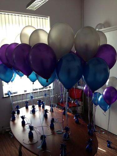 Tafeldecoratie 3ballonnen Leerhotel Het Klooster Amersfoort