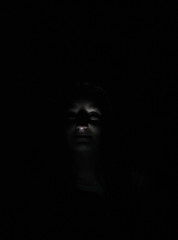 I see faces in the dark (VickyA1993) Tags: uk light portrait white black halloween girl face canon dark photography scary flickr mask ghost haunted horror effected advanture shopshire flickraward tilstock