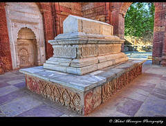 Tomb of Iltutmish, Qutub Complex, New Delhi (Mukul Banerjee (www.mukulbanerjee.com)) Tags: old sculpture india art history tourism archaeology monument beautiful architecture photography ancient nikon ruins minaret delhi muslim islam tomb landmark mosque tourist unescoworldheritagesite unesco worldheritagesite mausoleum photographs empire historical classical civilization sultan southeast dslr 14thcentury masjid cultural emperor medival newdelhi qutubminar islamic 2012 worldheritage shah qutabminar southasia d300 shahi mughal sigma1020mm mehrauli historicindia sultanate alaiminar quwwatulislam historicalindia iltutmish delhisultanate altamash imamzamin firozshahtughlaq indianheritage hindusthan alauddinkhilji qutbuddinaibak medivalindia mukulbanerjeephotography mukulbanerjeephotography wwwmukulbanerjeecom mamlukdynasty wwwmukulbanerjeecom