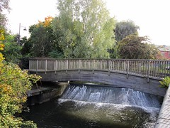 River Anker Weir (LookaroundAnne) Tags: bridge mill river warwickshire weir nuneaton millstream riveranker millweir