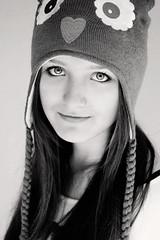 emily BW (Anthony Byron - BuDWiZeR) Tags: portrait bw eyes sony naturallight headshot bryce sue a700