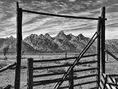 Gate to the Old West (Jeff Clow) Tags: ranch fence gate corral grandtetonnationalpark theoldwest jacksonholewyoming tpslandscape tpsfs tpssp tpsexc tpsrm