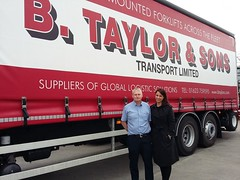 Gloria visits Taylors Transport