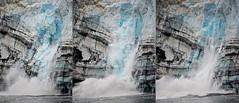 Ice calving Sequence_Glacier Bay_DSC_5339_7_Composite_D (renrut01) Tags: blue sea usa ice water composite alaska bay colours glacier falling trio splash sequence calving margerie
