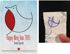 Happy New Year 2015 (Simon Sharville) Tags: illustration graphic design promotion self sketch robin christmas print