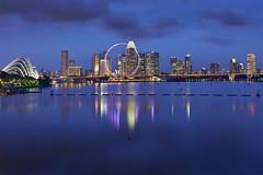 Marina Barrage_TGS0203 (Kinsei TGS) Tags: singapore singaporeflyer marinabarrage nightscene skyscrapers gardenbythebay business financial