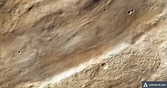 Craters and Plains on Mars, AI-Colored (sjrankin) Tags: 25july2016 edited nasa mars mro marsreconnaissanceorbiter colorized