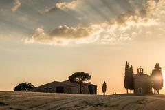 Vitaleta (marco soraperra) Tags: sky light clouds vitaleta san quirico dorcia valdorcia toscana chappel cappella backlight