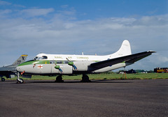 ALAN_POTTS_19870530_0015 (Spuggs) Tags: ayr ayrshire uk gbr glasgowprestwickairport prestwickairport hmsgannet pik egpk prestwickairshow airshow xm296 dehavillanddh114heronc4 heron heronc4 dh114 fonac royalnavy rn admiralsbarge navalaircommand aircraft piston military alanpotts hasselbladx5