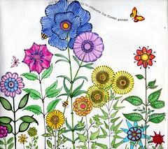 Secret Garden -006 (ronniesz) Tags: zentangleinspiredart adultcoloring derwentinktensepencils finelinecoloredpens prismacolorpencils patterns penandink nature flowers whimsy