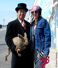 Dr. Takeshi Yamada and Seara (Coney Island Sea Rabbit) visited the Coney Island Polar Bear Club at the Coney Island Beach in Brooklyn, New York on March 27 (Sun), 2016. mermaid. merman. Happy Easter Bunny.   20160327SUN DSCN4666=-2018pC2 (searabbits23) Tags: searabbit seara takeshiyamada  taxidermy roguetaxidermy mart strange cryptozoology uma ufo esp curiosities oddities globalwarming climategate dragon mermaid unicorn art artist alchemy entertainer performer famous sexy playboy bikini fashion vogue goth gothic vampire steampunk barrackobama billclinton billgates sideshow freakshow star king pop god angel celebrity genius amc immortalized tv immortalizer japanese asian mardigras tophat google yahoo bing aol cnn coneyisland brooklyn newyork leonardodavinci damienhirst jeffkoons takashimurakami vangogh pablopicasso salvadordali waltdisney donaldtrump hillaryclinton polarbearclub