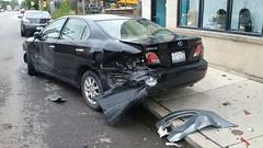 Smashed Lexus #1 (artistmac) Tags: chicago il illinois city urban street car automobile luxury lexus es sedan wrecked accident bumper facia canaryville 47thstreet