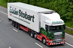 Stobart H2466 PO65 VBU Chelsea Leigh M6 Penrith 1/6/16 (CraigPatrick24) Tags: eddiestobart stobartgroup stobart road vehicle transport truck lorry trailer delivery logistics cab scania scaniar450 m6 penrith chelsealeigh h2466 stobartfridge fridge po65vbu
