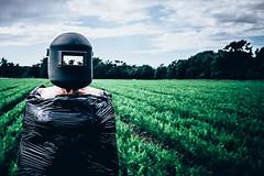 untitled (Ferdinand Bart Alst - Pixel Your Soul Photography) Tags: mask farmland farming carrots norway model welding plastic black 50mm reflection strange odd