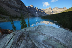 One of the Most Beautiful Places on Earth, Moraine Lake, Banff National Park (Bryan Carnathan) Tags: morainelake banff banffnationalpark alberta canada mountain mountains mountainscape mountainpeak peak sky glacier bluesky outdoor outdoorphotography nature naturephotography naturelovers landscape landscapephotography rocks rock water lake travel beautifuldestinations beautifulplace dawn sunrise morning sunrisephotography hdr bryancarnathan canon canonusa eos canoneos5dsr canonef1124mmf4lusmlens gitzo arcaswiss wideangle ultrawideangle 11mm ngc