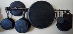 DSC_6442 (150hp) Tags: cast iron diy hanging rack black malleable pipe pan skillet nikon d70s nikkor 1870mm