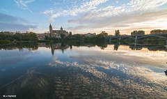 Reflections (jopas2800) Tags: cathedral sunset clouds river shore reflections reflexes reflejo rio nubes nikon d610 tokina1628 landscape salamanca espaa
