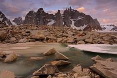 Karpogoro: Early morning over Solu Tower (Shahid Durrani) Tags: snow lake trek biafo glacier karakorams gilgit baltistan pakistan