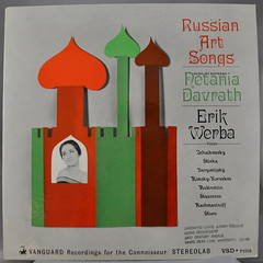 Russian Art Songs (Funkomaticphototron) Tags: coryfunk vinyl record album cover centrycollegecollection russianartsongs poems netaniadavrath erikcwerba vanguard