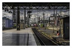Cologne | HBF (Onascht) Tags: bahnsteig dom gleise hauptbahnhof himmel kln nrw nikond610 sommer tokina100mmf28atxprodlens unterfhrung wolken brcke zug