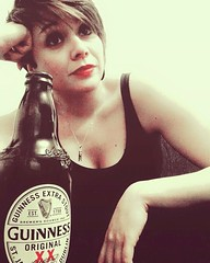 Beer (EleTNT) Tags: me portrait beer guinness indoor relax friday night beauty smile happiness home punk rock
