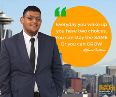 """Now a word from our RCG Leader of the week: """"I realized self-development is about proving something to yourself, staying focused and removing self doubt.""""- Alfonso Belloso #MotivationMonday #leadership (Renaissance Consulting Group) Tags: renaissance consulting group instagrams"""