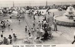 Middleton Tower Holiday Camp (trainsandstuff) Tags: holidaycamp middletontower postcard vintage