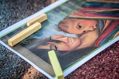 Giallo (FolleMente) Tags: gessetto madonnaro chalk draw disegno dettaglio detail grazie lombardia italia it