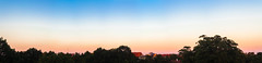 Sunset over the city (Sakuto) Tags: sunset view panoramic landscape colorful rainbow trees poznan city sky
