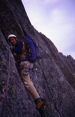 Jean-Michel Leading on the Lower Face (andywalker1) Tags: andrewwalker americandirect dru petitdru chamonix alps alpineclimbing