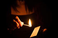 Match (alejo.365shoots) Tags: match dark light girl 365