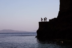 Ammoudi Bay Cliff Jump