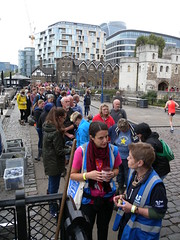 The queue! (Thames Discovery Programme) Tags: thamesdiscoveryprogramme toweroflondon riverthames london community archaeology foreshore fth01