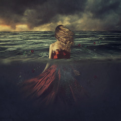 gravity (brookeshaden) Tags: brookeshaden fineartphotography conceptualphotography selfportraiture darkart halfunderwater imagecompositing