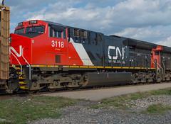 CN 3118 Roster (Joseph Bishop) Tags: cn 3118 ge et44ac cndundassubdivision brantford trains train track tracks railfan railroad railway rail rails gevo