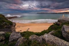 North Curl Curl Headland (Orange Orb Photography) Tags: exterior beach landscape sunset waves extremedepthoffield rock curlcurl ocean seascape sydney rockpool northernbeaches clouds