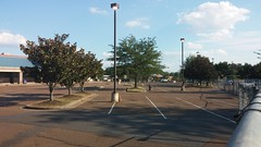Empty parking lot, fenced in... (Retail Retell) Tags: kroger grocery store hernando ms retail desoto county millennium dcor 475 marketplace v478 construction expansion project closure fixture sale emptiness memorabilia
