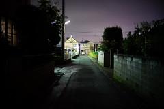 Street at Night (hidesax) Tags: streetatnight neighborhood street light drizzling night clouds ageo saitama japan hidesax sony a7ii 2016