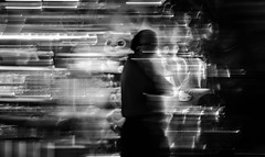 life is passing me by (Noel Leone--my reality in and out of focus) Tags: icm intentionalcameramovement atthefair monochromebokehthursday andthedaysgoby blur contrast