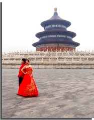 Chinese wedding at the Hall of Prayer for Good Harvest, Temple of Heaven in Beijing (On Explore #202 August 30) (jackfre2 (on a trip-voyage-reis-reise)) Tags: china beijing bride groom redweddingdress weddingdress wedding hallofprayerforgoodharvest red rememberthatmomentlevel1 rememberthatmomentlevel2 rememberthatmomentlevel3 rememberthatmomentlevel4 mygearandme mygearandmepremium mygearandmebronze