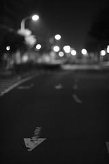 Wrong Way (istdercollen) Tags: street b light bw japan dark nikon w 200 aomori f2 mm nikkor afs misawa 200mm