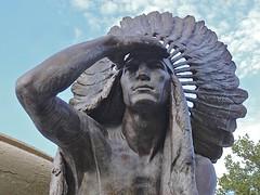 Distant Memories (flickr flame) Tags: sculpture fountain statue bronze indian memories ct nativeamerican hartford corning distant headress bushnellpark