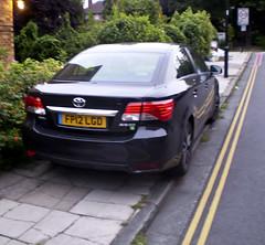 BAD PARKING 1 (Nigel Bewley) Tags: uk england london idiot offroad parking september illegal toyota w5 ealing doubleyellowlines badparking inconsiderate avensis unlimitedphotos september2012 greystokegardens fp12lgd
