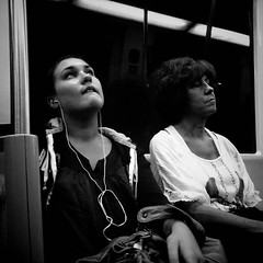 Untitled (CroytaqueCie) Tags: nightphotography people blackandwhite woman night subway photography noiretblanc candid métro streetphotography human candidphotography condition croytaque flickrandroidapp:filter=none croytaquecie