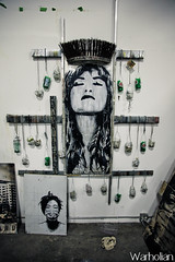 Epilogue at Hold Up Gallery featuring Eddie Colla, Hugh Leeman and D Young V  - Photos by Michael Cuffe (WarholianPics) Tags: show street david art up painting michael artist d hugh maria young exhibition v anderson eddie hold epilogue warholian colla leeman cuffe
