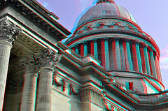 Pantheon Paris 3D (wim hoppenbrouwers) Tags: paris 3d pantheon anaglyph stereo parijs redcyan stereopicture paris3d
