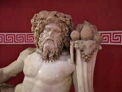 Izmir Archaeological Museum. River God. (wonky knee) Tags: sculpture statue turkey izmir archaelogicalmuseum rivergod greekkeydesign